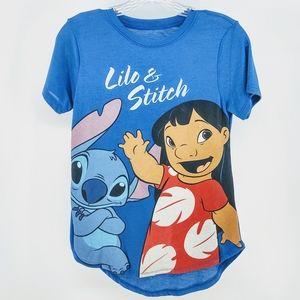 Disney Blue Short Sleeve Lilo & Stitch TShirt